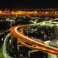 Photos: 190107_71S_夜の首都高狩場線・S18200・α60(マリンタワー) (1)