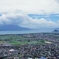 国分平野と桜島