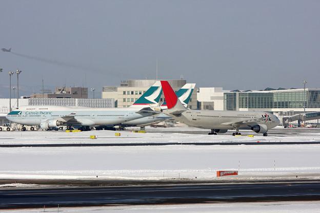 新千歳空港 A300とB747が飛んでいたころ 2011.02