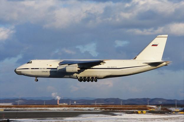 An-124-100 RA-82074 Trans-Charter Rwy36R