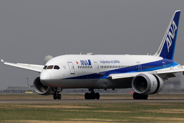 Boeing 787-8 JA802A reverse thrust