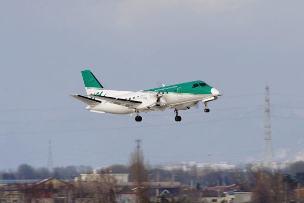 SAAB 340B JA01HC takeoff OKD 2011