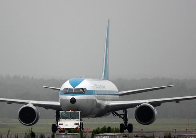 Boeing 767-381 JA602A ANA モヒカンジェット