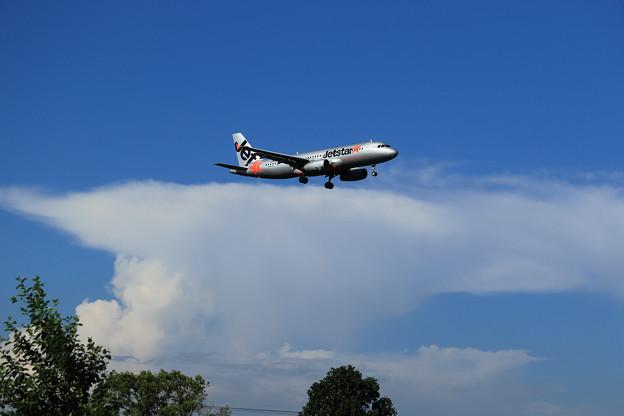 A320 Jetstar 夏の雲