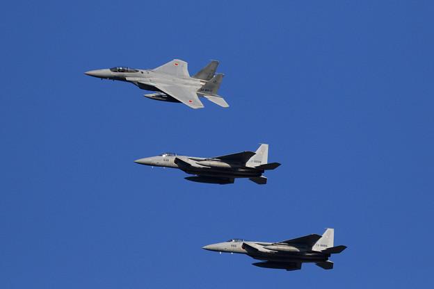 F-15 4機の左旋回による編隊解除 (2)