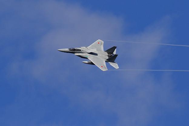 F-15 4機の左旋回による編隊解除 (4)