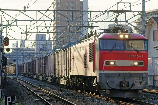 4076レ【EF510-1牽引】