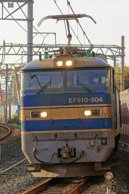 4076レ【EF510-504牽引】