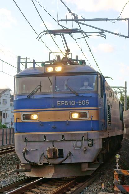 4076レ【EF510-505牽引】