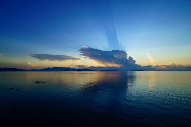 夕陽を遮るモンスター
