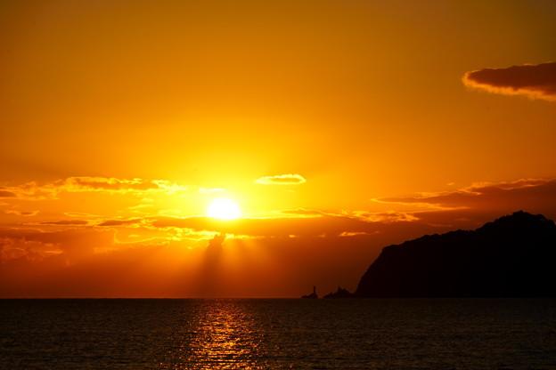 室積の夕陽