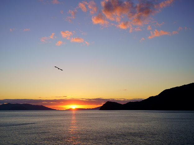 夕陽を追いかけて