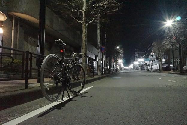 自転車と夜景