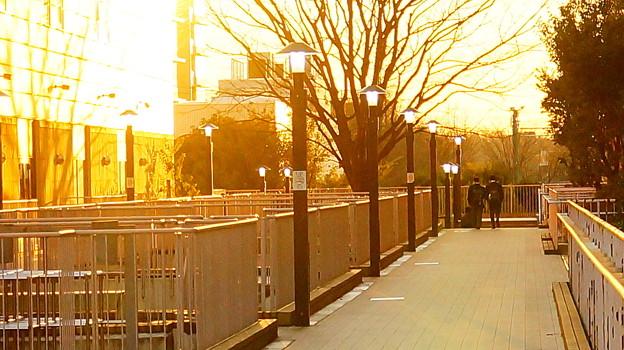 新百合ヶ丘の夕陽...3