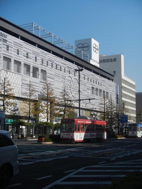 Okayama Electric Tramway #7102 and #7301