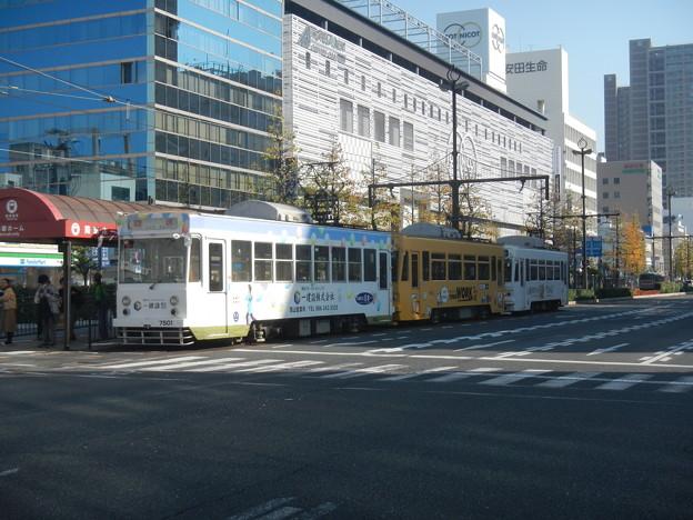 Okayama Electric Tramway #7501 etc