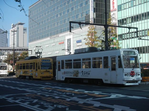 Okayama Electric Tramway, Okayama Station disembark platform