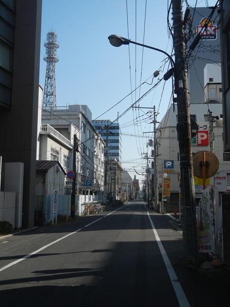 岡山市にて