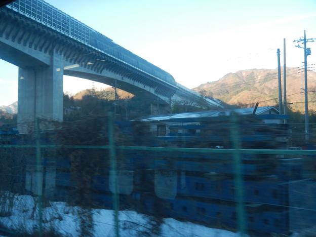 Maglev viaduct across over Fujikyu Line
