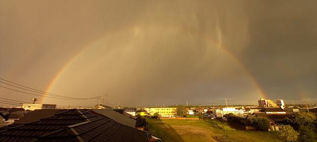 虹から湯気