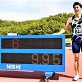 Photos: 陸上男子100mで 山縣亮太選手 9秒95の日本新記録