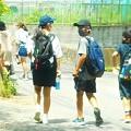 Photos: 小6生の夏休み@8人ほどが集まって夏休みの宿題から片付ける@瑠璃山周辺21.7.21