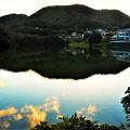 日没迫る 水源池の秋@21.9.18