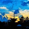Photos: 機影飛ぶ 冒険の森の 秋の夕暮れ@びんご運動公園21.9.23