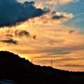Photos: 秋分の日の秋の夕暮れ@平木山21.9.23