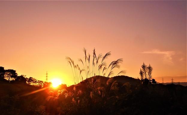 高原の秋の夕暮れ@沈む夕陽21.10.4