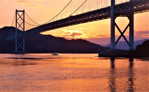 しまなみ海道の秋の夕暮れ@因島大橋21.10.8