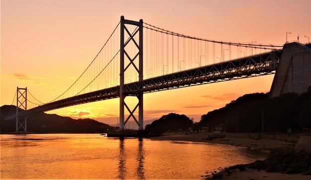因島大橋の夕暮れ@秋のしまなみ海道21.10.8