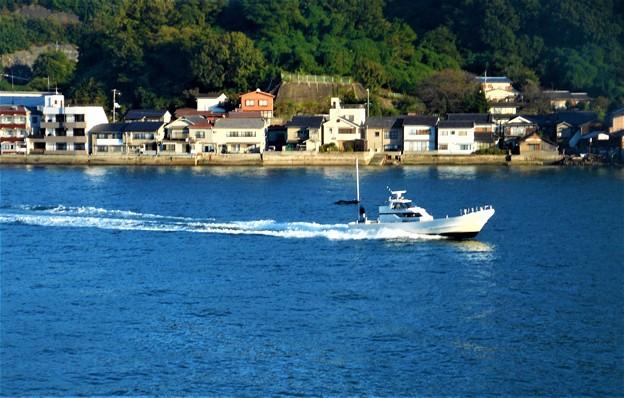 白い釣り船 全速快走@大漁祈願@瀬戸内海21.10.15