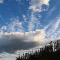 夕暮れ前の空