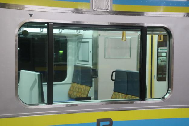E131系の車内 ボックスシート