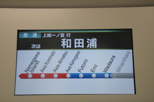 E131系0番台 車内案内表示