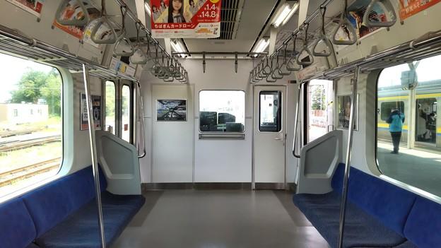 E231系0番台松戸車 車内先頭部