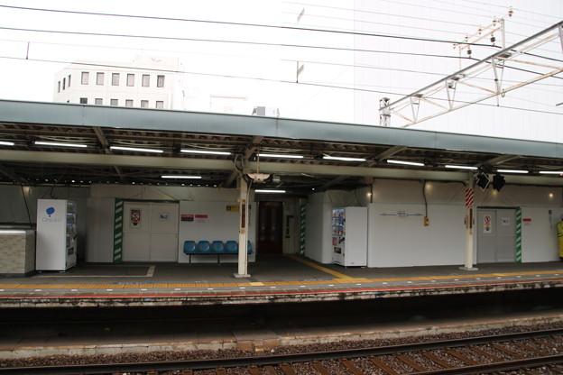 京成電鉄 千葉中央駅1番線 工事中