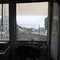 佐倉停車中1033F車内先頭部より津田沼方面