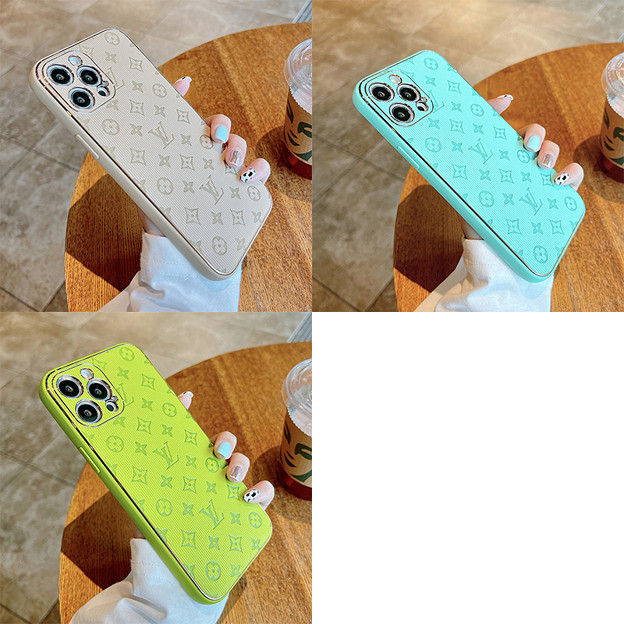 ladyChanel lv iPhone 13 pro max 13 mini case leather luxury