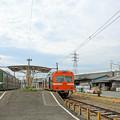 Photos: 対極の鉄道!?(岳南江尾駅)