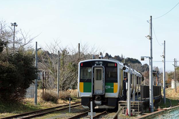 終着駅(上総亀山駅)