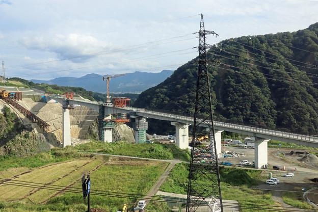 豊肥本線の車窓~阿蘇大橋