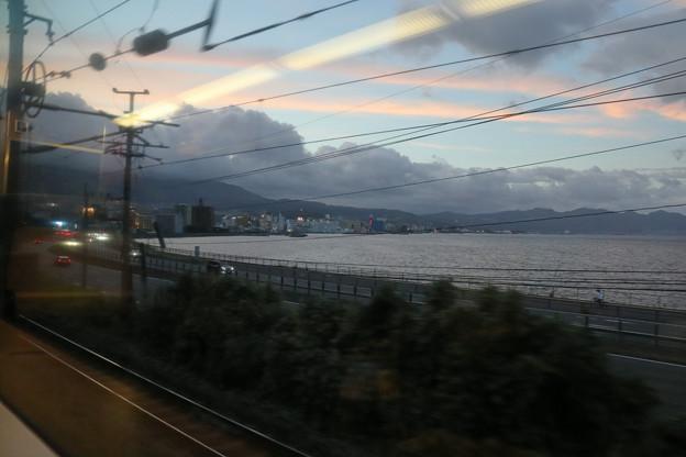 黄昏の別府湾