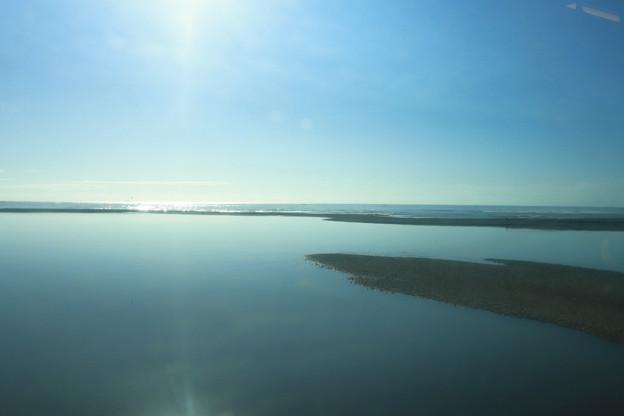 日豊本線の車窓~小丸川河口付近?