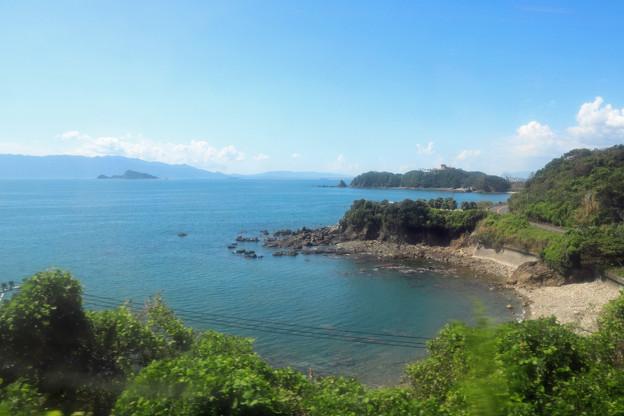 日南線の車窓~志布志湾