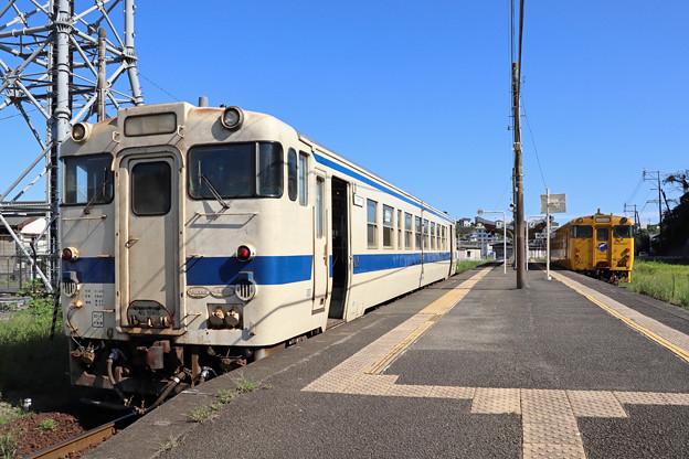 油津駅のキハ40たち