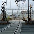京急大師線の産業道路踏切