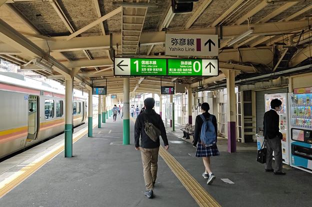 東三条駅0番線