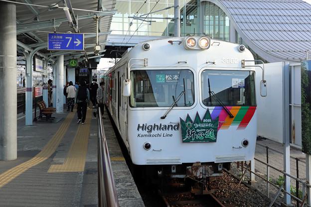 アルピコ3000形@松本駅